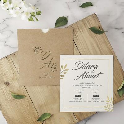 Polen Eko Düğün Davetiyesi 40102
