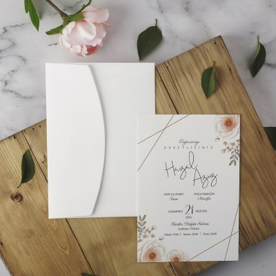 Polen Eko Düğün Davetiyesi 40114