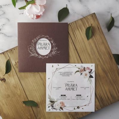 Polen Eko Düğün Davetiyesi 40120