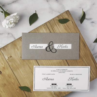 Polen Eko Düğün Davetiyesi 40124