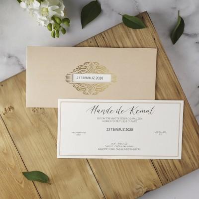Polen Eko Düğün Davetiyesi 40125