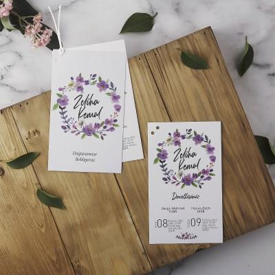 Polen Eko Düğün Davetiyesi 40146