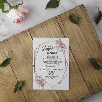 Polen Eko Düğün Davetiyesi 40151