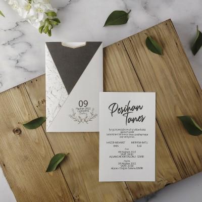 Polen Eko Düğün Davetiyesi 40165