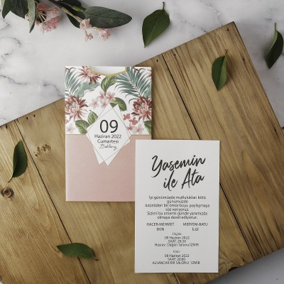 Polen Eko Düğün Davetiyesi 40168
