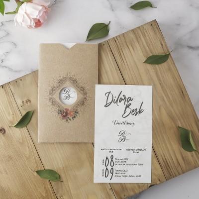 Polen Eko Düğün Davetiyesi 40179