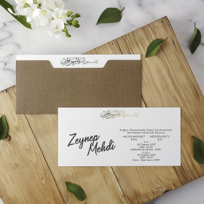 Polen Eko Düğün Davetiyesi 40180