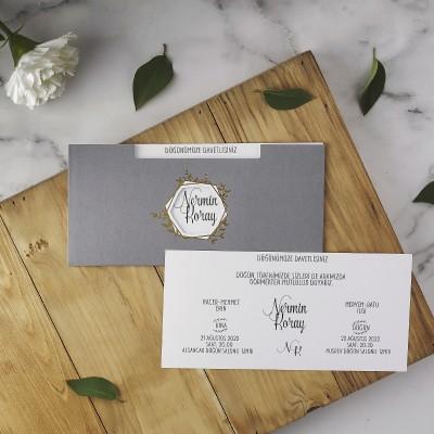 Polen Eko Düğün Davetiyesi 40182
