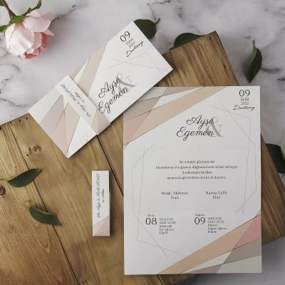 Polen Eko Düğün Davetiyesi 40189