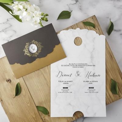 Polen Eko Düğün Davetiyesi 40190