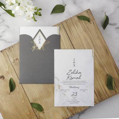 Polen Eko Düğün Davetiyesi 40195