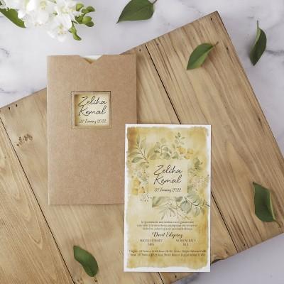 Polen Eko Düğün Davetiyesi 40196