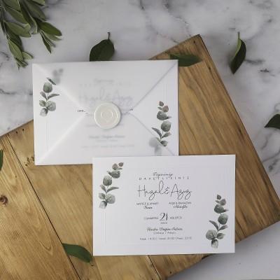 Polen Eko Düğün Davetiyesi 40198