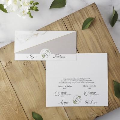 Polen Eko Düğün Davetiyesi 40201