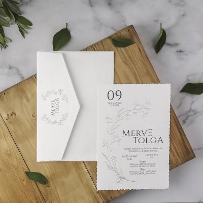 Polen Eko Düğün Davetiyesi 40205