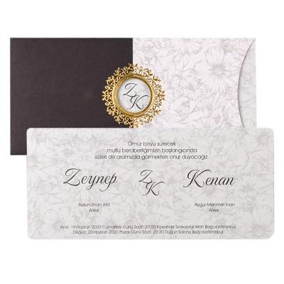 Polen Ekoline Düğün Davetiyesi 22330