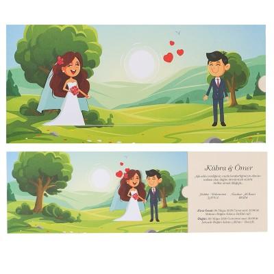 Polen Ekoline Düğün Davetiyesi 22420