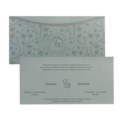Polen Stylish Düğün Davetiyesi 10228