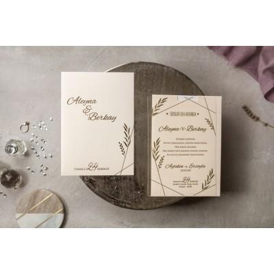 İklim Wedding Düğün Davetiyesi 8401